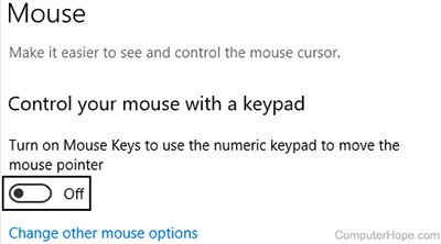 How to Move the Mouse Cursor with the Keyboard in Windows