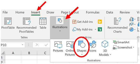 How to Add or Edit Shapes in Microsoft Word and Excel