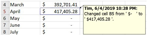 Change details for a cell in Microsoft Excel