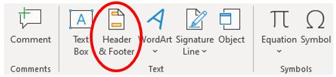 Add header or footer in Microsoft Excel