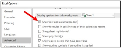 How to change the name of the column headers in Excel