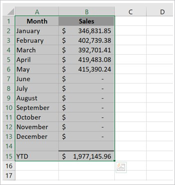 How to copy data in Microsoft Excel to Microsoft Word