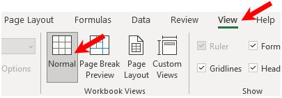 Close header and footer edit mode in Microsoft Excel