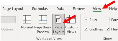 Access header and footer edit mode in Microsoft Excel