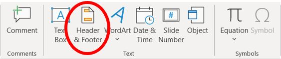 Add header or footer in Microsoft PowerPoint