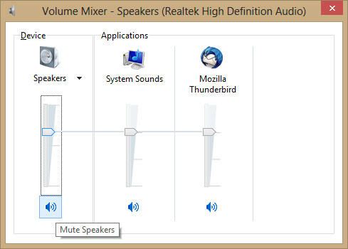 How do I turn off or disable computer speakers?