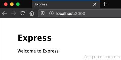 Default Express.js app