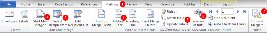 How to Mail Merge and print labels in Microsoft Word