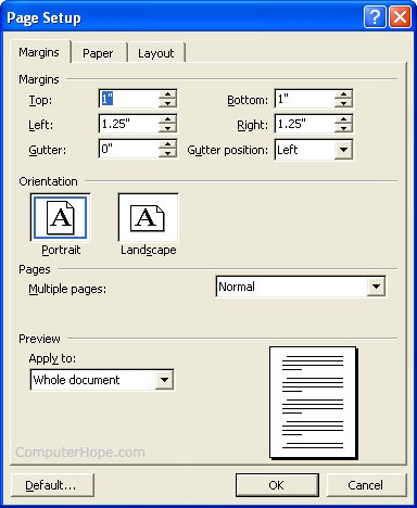 openoffice.org how to change margins