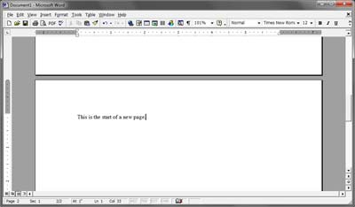 how to delete a page break in microsoft word and open