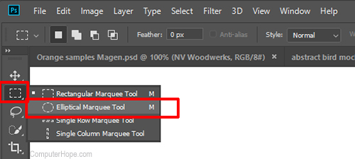 Photoshop Elliptical Tool