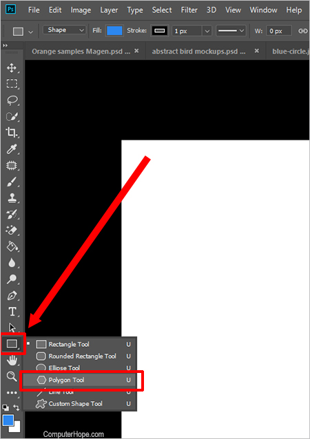 Photoshop polygon tool