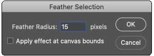 Choose feather radius.