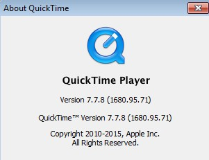 About Quicktime window