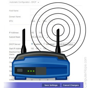 How do I adjust the settings of my home router?