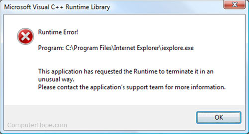 Image result for run time error definition