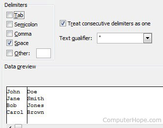 Text to Columns - Delimiters