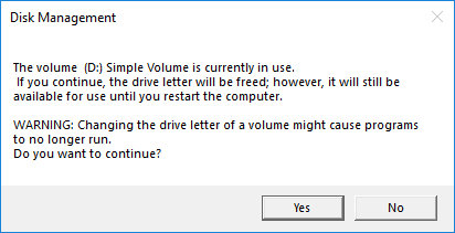 How to unmount a volume in Windows
