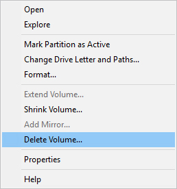 How to delete a partition in Windows