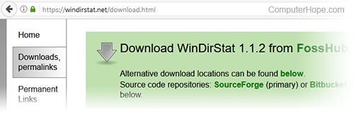 Downloading WinDirStat