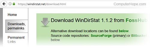 Downloading WinDirStat