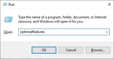Accedi all'utilità delle funzionalità di Windows tramite la casella Esegui di Windows