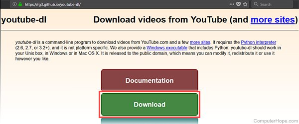 Download YouTube Videos and Audio with YouTube-dl