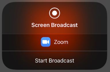 Start sharing in a Zoom meeting on a mobile device