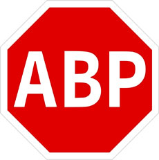 The logo for AdBlock Plus.
