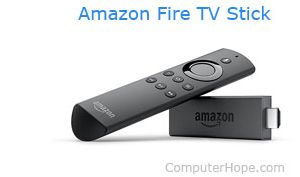 The Amazon Fire TV Stick.