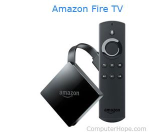 The Amazon Fire TV.