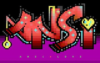 Example of ANSI art, published by YouTube user AngryPixel.