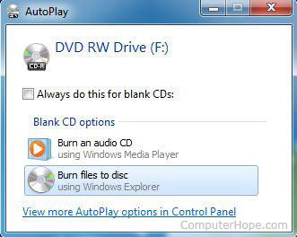 Compact Disc Autorun Windows