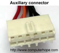 Auxiliary power connector cable