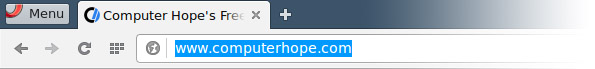 Opera address bar in Debian 8 Linux