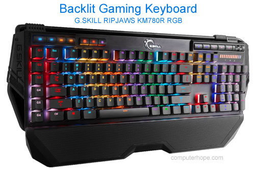 Backlit gaming keyboard from G.SKILL