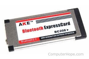 A typical Bluetooth ExpressCard