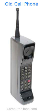 Example of a brick or old cell phone