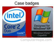 Computer case badges