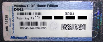 windows xp serial keys