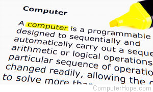 Computer term and definition