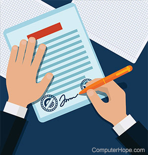 how to send digital signature