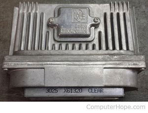 Example ECU from vehicle
