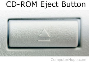 CD-ROM eject button