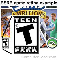 ESRB game rating example