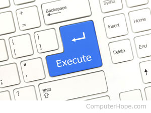 execute definition computer