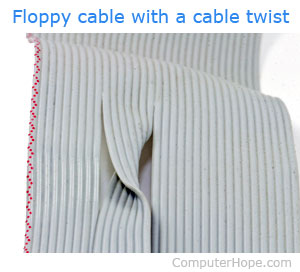 Floppy cable with twist