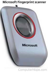 Microsoft fingerprint scanner