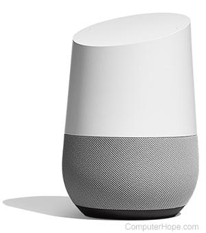 Photo: A Google Home speaker.