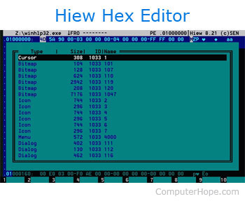 Hiew hex editor